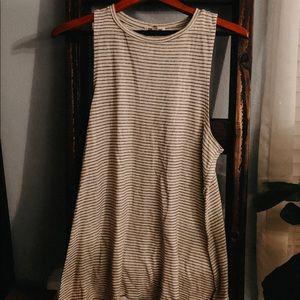 Billabong striped tshirt dress/shirt